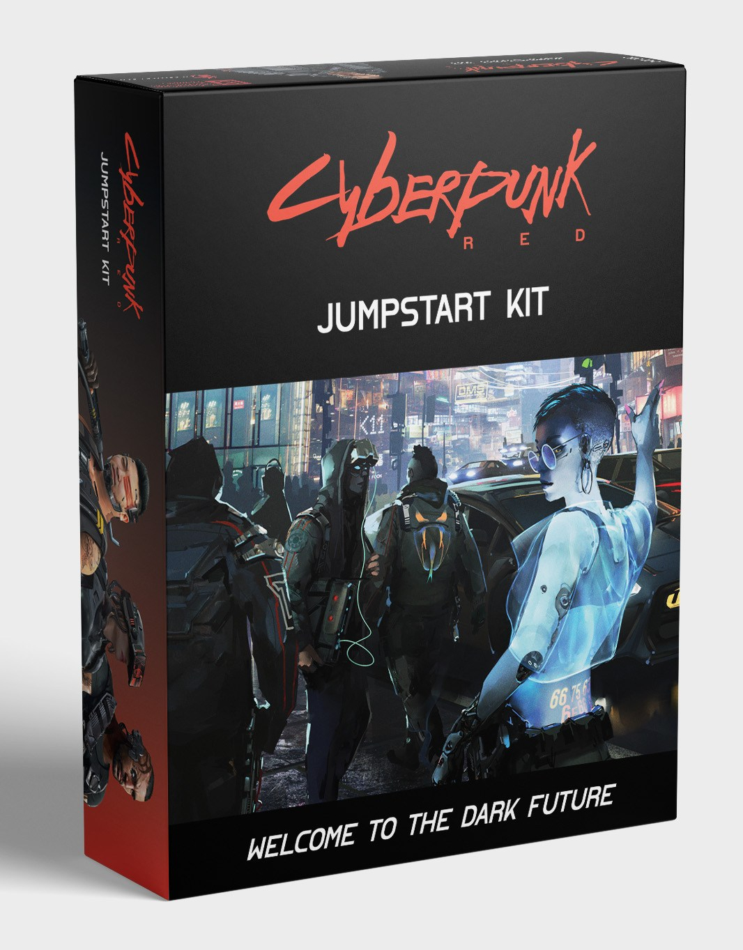 The Cyberpunk RED Jumpstart Kit box